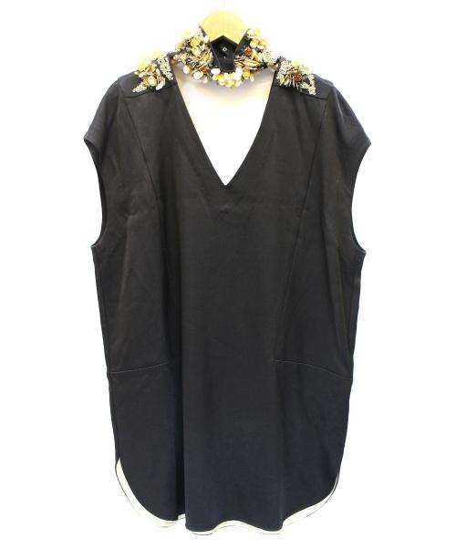 By Malene Birger(バイマレーネビルガー)BY MALENE BIRGER (バイマレーネビルガー) デザインワンピース ブラック サイズ:34 未使用品の古着・服飾アイテム
