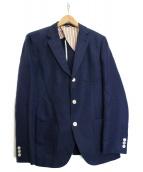 BEAMS Lights(ビームスライツ)の古着「リネン混3Bジャケット」|ネイビー