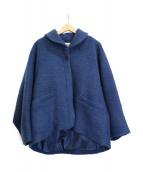 Conges payes(コンジェ ペイエ)の古着「ビッグスリーブショートコート」|ブルー