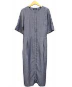 HUMAN WOMAN(ヒューマンウーマン)の古着「マキシシャツワンピース」|ネイビー
