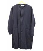 bunt(バント)の古着「ノーカラーコート」|ブラック
