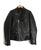 JACKROSE(ジャックローズ)の古着「ラムレザーライダースジャケット」|ブラック