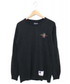 Supreme × Champion(シュプリーム × チャンピオン)の古着「スタックドCロングスリーブティー」|ブラック