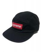 Supreme(シュプリーム)の古着「ウォッシュドチノツイルキャンプキャップ」|ブラック