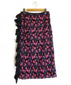 leur logette(ルルロジェッタ)の古着「クチュールレーススカート」 ブラック