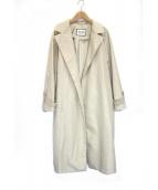 ROPE mademoiselle(ロペマドモアゼル)の古着「キルトライナー付ナイロンコート」|ベージュ
