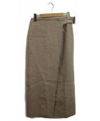 heliopole(エリオポール)の古着「リネンラップスカート」 ベージュ