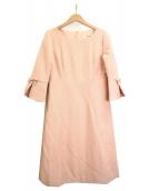 STRAWBERRY FIELDS(ストロベリーフィールズ)の古着「リボンスリーブワンピース」 ピンク