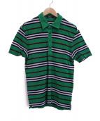 BURBERRY BLACK LABEL(バーバリーブラックレーベル)の古着「ワンポイントポロシャツ」|グリーン