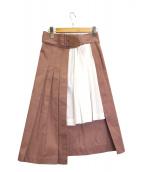 Sea NEW YORK(シーニューヨーク)の古着「プリーツ切替スカート」|ピンク