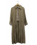 Hermaphrodite(エルマフロディット)の古着「リネンロングコート」|ベージュ