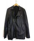 NO ID.(ノーアイディー)の古着「ラムレザージャケット」|ブラック