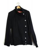 Vivienne Westwood RED LABEL(ヴィヴィアンウエストウッド レッドレーベル)の古着「ネックデザインライトジャケット」|ブラック