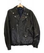 BEAUTY&YOUTH(ビューティーアンドユース)の古着「ゴートレザーライダースジャケット」|ブラック