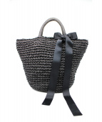 bilitis dix-sept ans(ビリティスディッセッタン)の古着「2WAYカゴバッグ」|ブラック