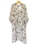KATHARINE ROSS(キャサリンロス)の古着「花柄ワンピース」|ベージュ