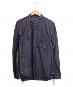 Rags McGREGOR(ラグス マクレガー)の古着「ダンガリーシャツ」|ブラック