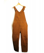 SCYEBASICS(サイベーシックス)の古着「UKダックオーバーオール」|ブラウン