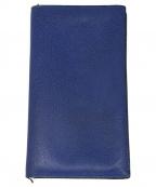Valextra(ヴァレクストラ)の古着「折り畳み長財布」|ブルー