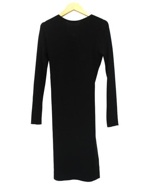 HELMUT LANG(ヘルムートラング)HELMUT LANG (ヘルムートラング) オープンバッグニットワンピース ブラック サイズ:S 未使用品 THE BACK DRESSの古着・服飾アイテム
