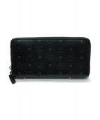 MCM(エムシーエム)の古着「ラウンドファスナー長財布」|ブラック