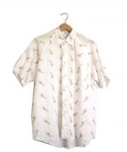 COMME des GARCONS SHIRT(コムデギャルソンシャツ)の古着「キリン刺繍半袖シャツ」 ホワイト