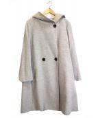 23区(ニジュウサンク)の古着「ウールアンゴラビーバーフーデットコート」|グレー
