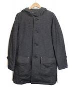 BLUE WORK(ブルーワーク)の古着「フーデッドコート」 グレー