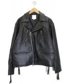 BEAMS(ビームス)の古着「ワイドライダースジャケット」|ブラック