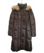 UNTITLED(アンタイトル)の古着「ベルテッドダウンコート」|ブラウン