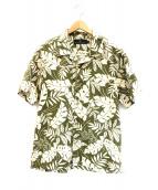 Winiche&Co.(ウィニッチ・アンド・コー)の古着「オープンカラーシャツ」|グリーン