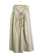 RITO(リト)の古着「ロングプリーツスカート」 ベージュ