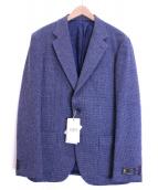 TAKEO KIKUCHI(タケオキクチ)の古着「ウール混メランジ千鳥ジャケット」 ネイビー