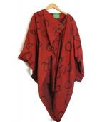 Vivienne Westwood RED LABEL CHOICE(ヴィヴィアンウエストウッド レッドレーベルチョイス)の古着「総柄コクーンコート」|レッド
