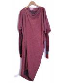 Vivienne Westwood RED LABEL(ヴィヴィアンウエストウッド レッドレーベル)の古着「コクーンシルエットワンピース」|レッド