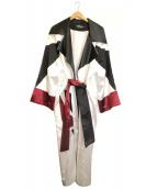MISBHV(ミスビヘイブ)の古着「ペインキモノコート」|ホワイト×ブラック