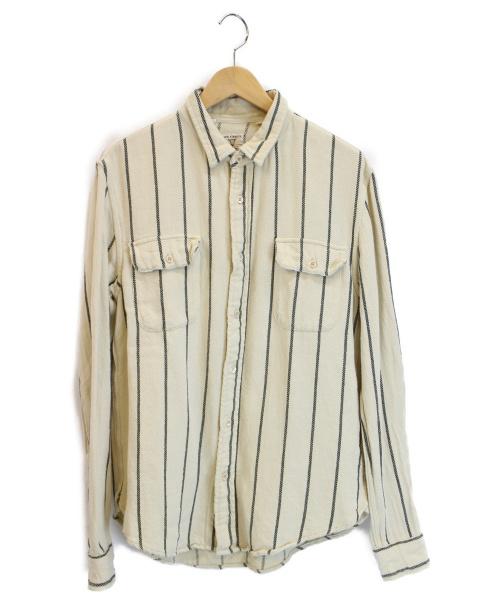 LEVIS VINTAGE CLOTHING(リーバイス ヴィンテージ クロージング)LEVIS VINTAGE CLOTHING (リーバイス ヴィンテージ クロージング) ストライプシャツ ホワイト サイズ:S ショートホーンタグ復刻の古着・服飾アイテム