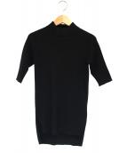 Deuxieme Classe(ドゥーズィエムクラス)の古着「半袖ハイネックリブニット」|ブラック