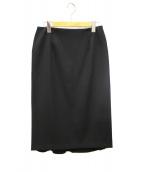 Deuxieme Classe(ドゥーズィエムクラス)の古着「ダブルクロスパネルスカート」 ブラック