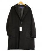 ITEMS URBAN RESEARCH(アイテムズ アーバンリサーチ)の古着「チェスターオーバーコート」|ブラック