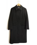 NEWYORKER(ニューヨーカー)の古着「カシミヤ混ステンカラーコート」 ブラック