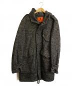 BARENA(バレナ)の古着「ウールフーデッドコート」|グレー