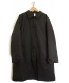 MHL(エムエイチエル)の古着「ダウンライナー付ステンカラーコート」 ブラック