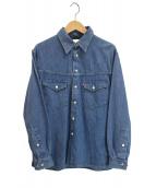 WESTOVERALLS(ウエストオーバーオールズ)の古着「デニムウエスタンシャツ」|インディゴ
