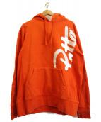 Patta(パッタ)の古着「ロゴプルオーバーパーカー」 オレンジ