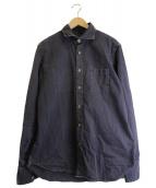 eleventy(イレブンティ)の古着「コットンシャツ」 ネイビー