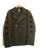 GUILD PRIME(ギルドプライム)の古着「フロッキースターPコート」|カーキ