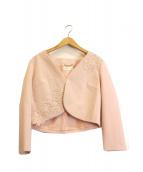 Harrods(ハロッズ)の古着「フラワーペーストジャケット」|ピンク