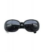 CHANEL(シャネル)の古着「カメリアサングラス」|ブラック