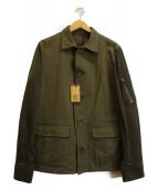 COMME CA MEN(コムサメン)の古着「袖切替ジャケット」|カーキ